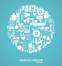 Medical icon background vector