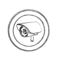 monochrome sketch of exterior video security vector image