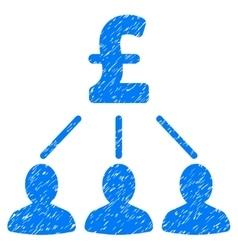 Pound shareholders grainy texture icon vector
