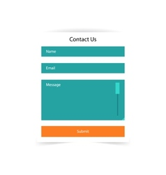 Simple contact us form templates template vector image vector image
