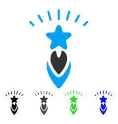 Starting star flat icon vector