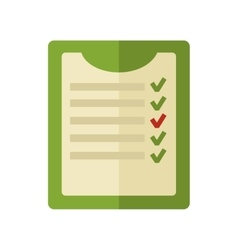 Survey green checklist flat design vector
