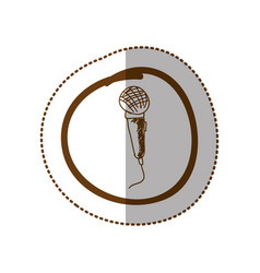 Symbol microphone instrument icon vector