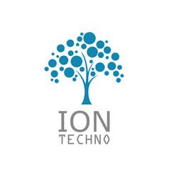 tree ion technology logo vector image