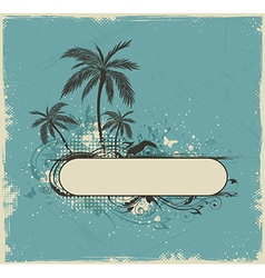 Vintage summer background vector image vector image