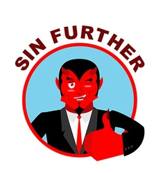 Devil shows well sign all right sin further thumbs vector