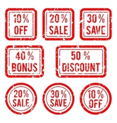 Off or sale discount and bonus stamps vector