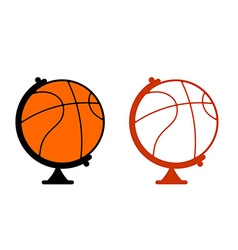 Globe basketball world game sports accessory as vector