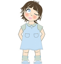Cute young girl vector image