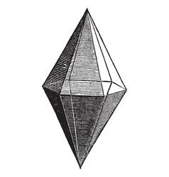 Ruby crystal vintage engraving vector