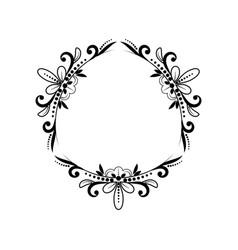 Black classic triangular contour frame vector