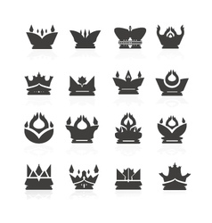 Crown set for halloween vector