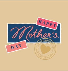 Mothers day hand lettering postage stamp vector
