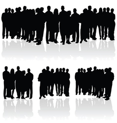 people group silhouette vector image