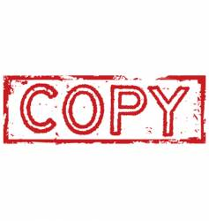 Copy stamp label vector