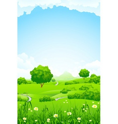Green fileds background vector