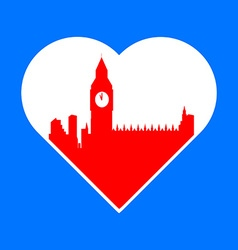 i love London template vector image