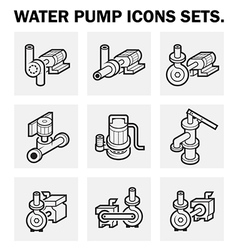 Water pump 3d icon vector