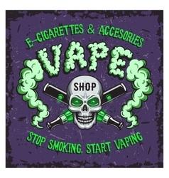 Colour of vape smoking vector image