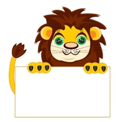 Lion with poster vector