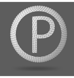 The letter p polygonal letter abstract creative vector
