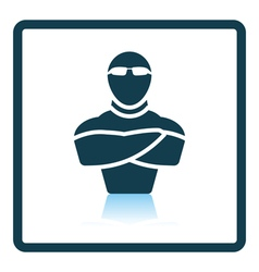 Night club security icon vector