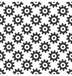 Black gears seamless pattern vector