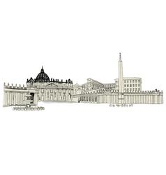 vatican sketch vector image