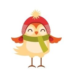 Bird clothes winter icon vector