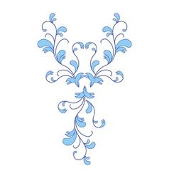 Blue flower ornament vector