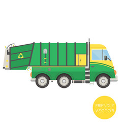 Cartoon transport garbage truck vector
