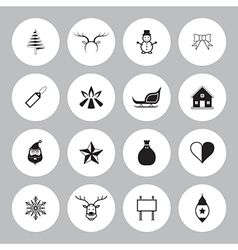 Christmas icon set circle vector