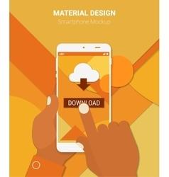 Cloud computing app mockup vector
