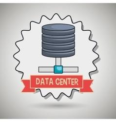 data center base icon vector image
