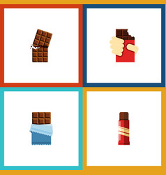 Flat icon sweet set of wrapper sweet shaped box vector