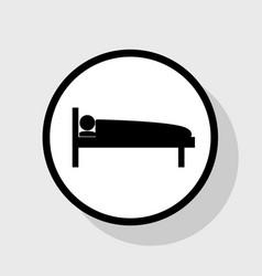 hospital sign flat black vector image vector image