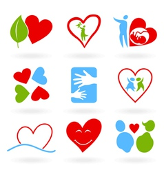 icons of love vector image