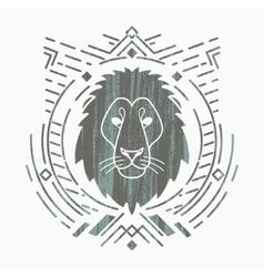 Lion head in frame vector