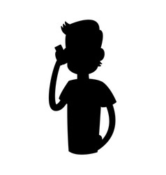 Man talking on the phone icon image vector