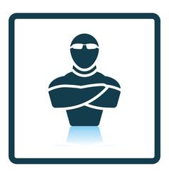 Night club security icon vector