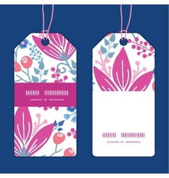 Pink flowers vertical stripe frame pattern vector
