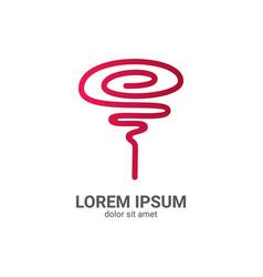 rose line logo design template vector image