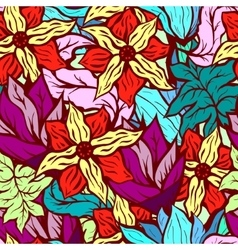 Seamles background with bright floral pattern of vector