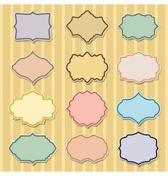 set of color frames vector image