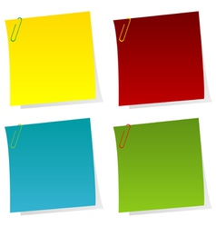 Set of post it notes vector image vector image