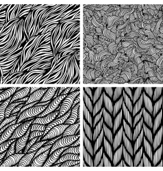 Set of seamless patterns vector image