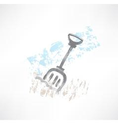 Shovel grunge icon vector