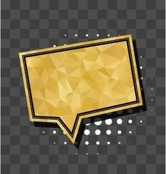 Square gold sparkle comic text bubble vector