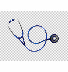 stethoscope in blue color vector image vector image