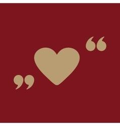 The love icon heart symbol flat vector